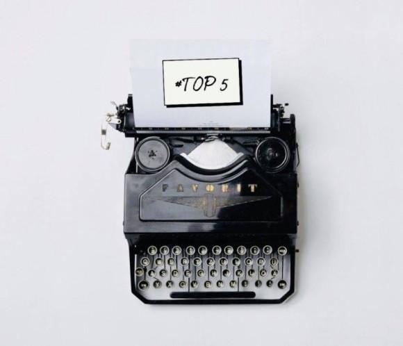 machine à écrire top 5 tendances éditoriales